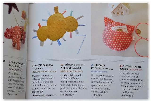 les doudous made in velanne dans un magazine