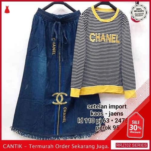Jual RRJ102S102 Set Jeans Set Wanita Canel Is Terbaru BMGShop