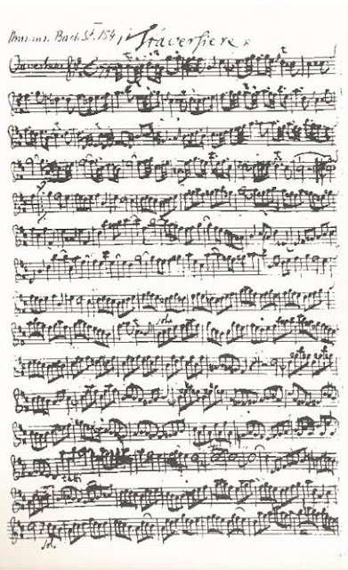 Bach's autograph of the Traversière part of the second orchestral suite (BWV 1067)