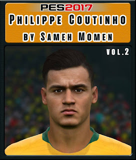 PES 2017 Faces Philippe Coutinho by Sameh Momen