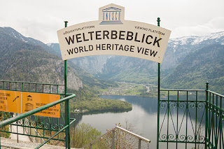 Vista panorâmica de Hallstatt, Áustria, Patrimônio da UNESCO