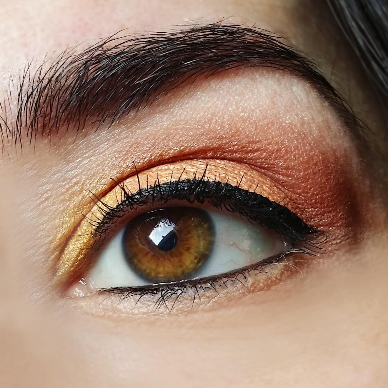 trucco-occhi-oro-marrone