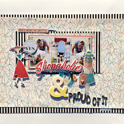 shopaholic scrapbook page tracee provis authentique metropolitan girl papermaze