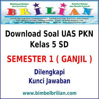 Download Soal UAS PKN Kelas 5 SD Semester 1 (Ganjil) Dan Kunci Jawabannya
