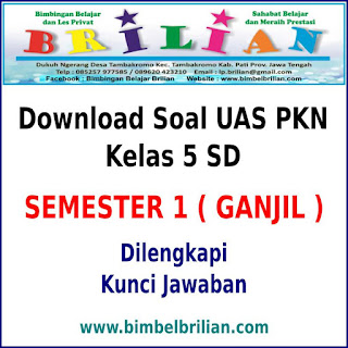 Kali ini Admin ingin membagikan Download Soal UAS PKN Kelas  Download Soal UAS PKN Kelas 5 SD Semester 1 (Ganjil) Dan Kunci Jawabannya
