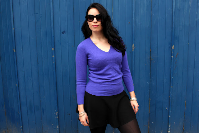 Cashmere and sunglasses - London fashion blogger Emma Louise Layla