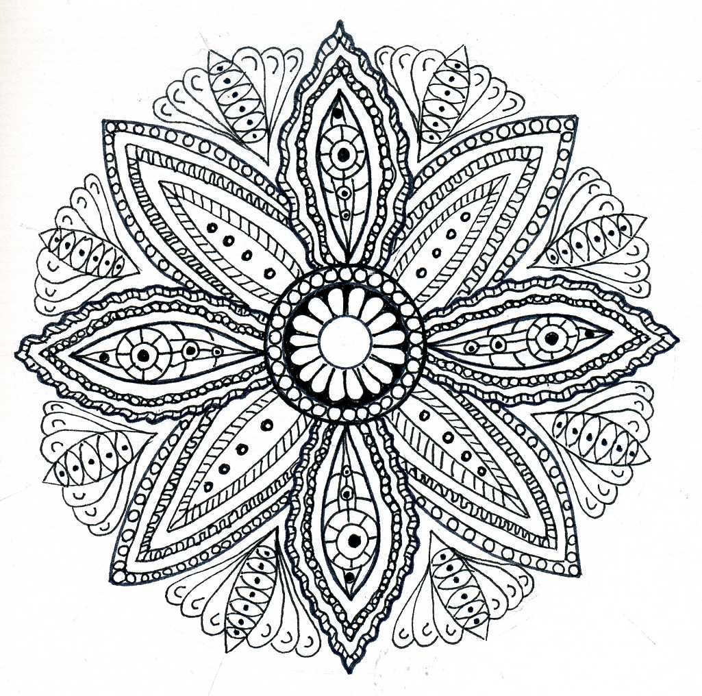 Free coloring pages mandala free coloring pages for Flower adult coloring pages