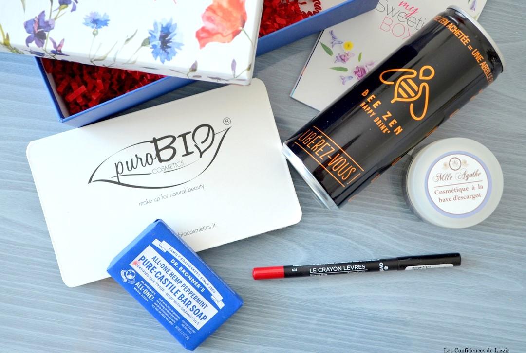 Box - box beauté - box lifestyle - Sweetie - bio - naturel - cosmétiques bio - cosmétiques naturels