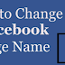 How to Change the Name Of A Facebook Page