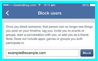 how to block a person on facebook on ipad