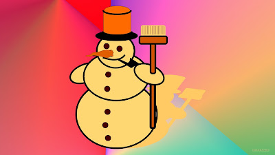 Mooie wallpaper met sneeuwpop