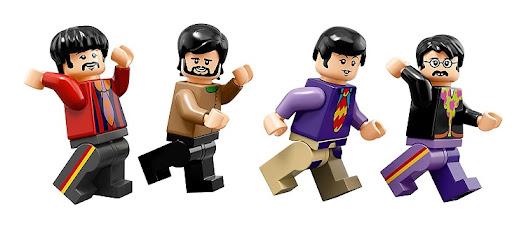 The Beatles Yellow Submarine Lego Set Minifigures