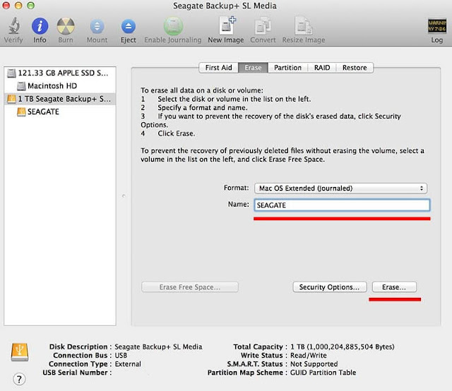 Format an External Disk or Flash Drive for Mac in Maverics