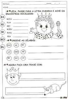 Atividades alfabetização com a letra R