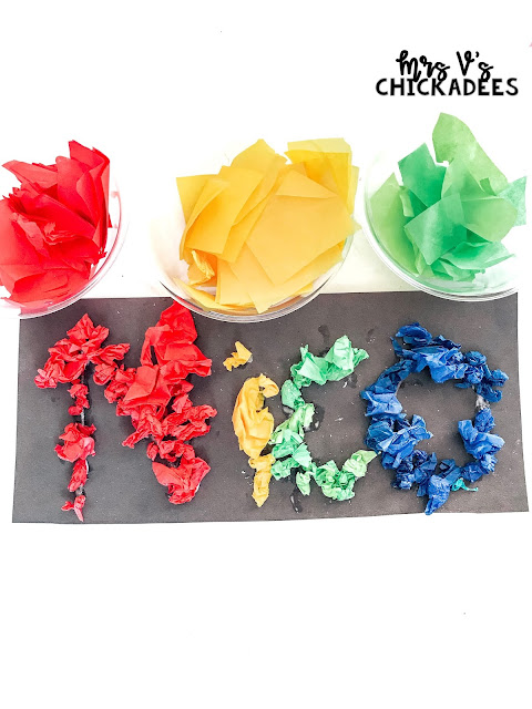 Hands-On Preschool Unit for Teaching Colors including sensory bins, guided activities, poems, and more