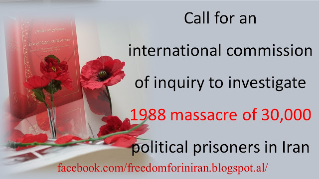 Call for an international commission of inquiry to investigate 1988 massacre of 30,000 political prisoners in Iran