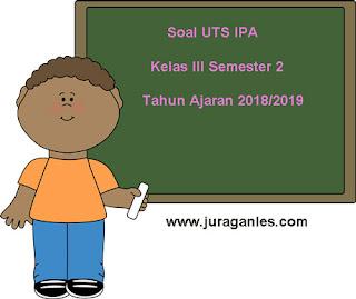 Contoh Soal UTS IPA Kelas 3 Semester 2 Terbaru Tahun Ajaran 2018/2019