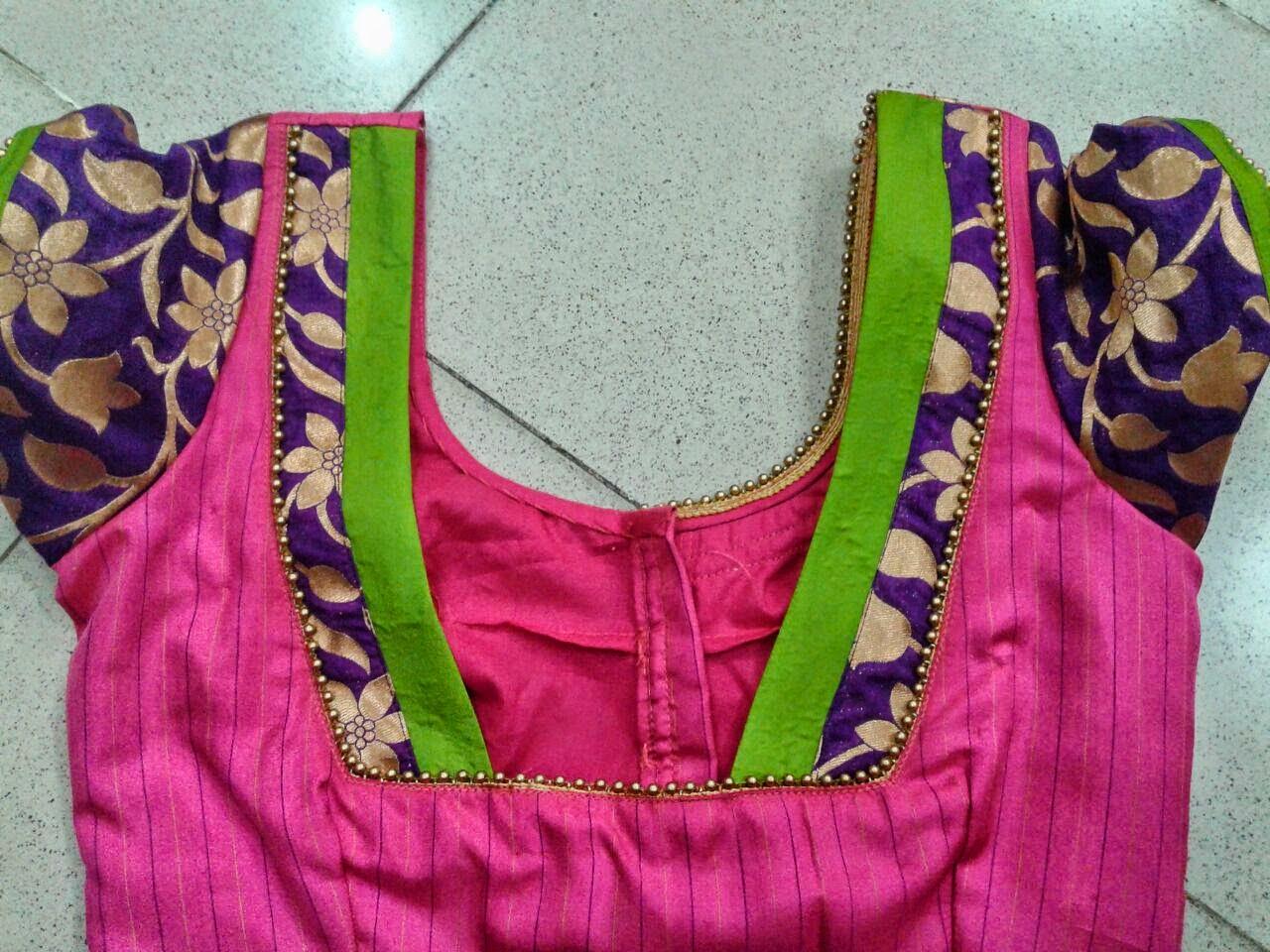 Saree blouse design patch work jalluri lakshmi jalluril on pinterest