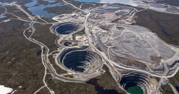 Ekati diamond mine in Canada