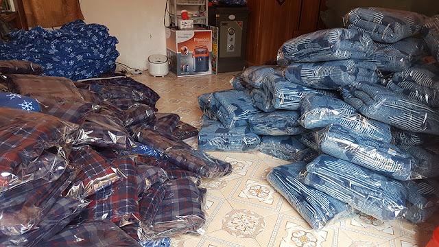 Xưởng sản xuất Chăn nỉ cho tập toàn Viettel  -  5000 cái