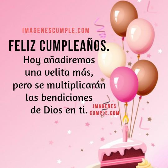 Bonitas imágenes de cumpleaños para felicitar hija, amiga, hermana. Tarjeta linda con mensaje de bendiciones por Mery Bracho.