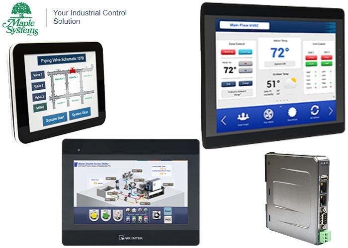 Maple Systems Weintek HMIs: HMI Control for Smart Factories with