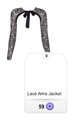 stardoll lace arms jacket