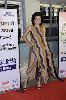 Actress Tapsee Panu Stills at Remonetise India Campaign in Chetna College Bandra West  0027.jpg