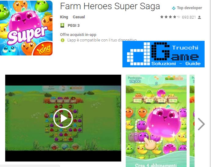 Trucchi Farm Heroes Super Saga Mod Apk Android v0.50.12