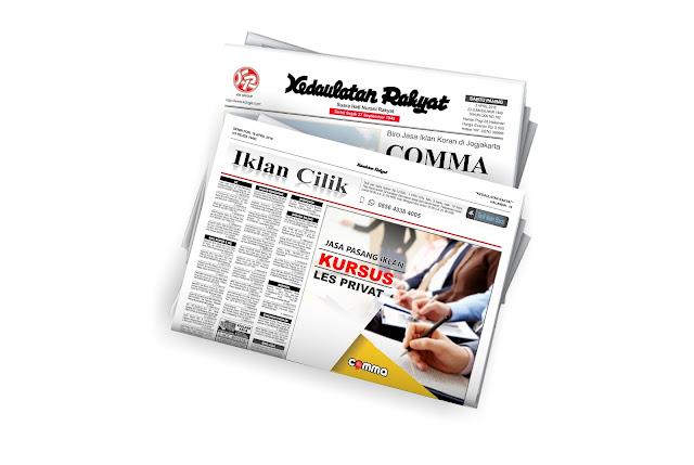 pasang iklan kursus di koran KR