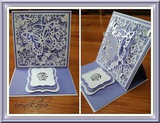 Kartki z motylkiem 3D i kartka choinka