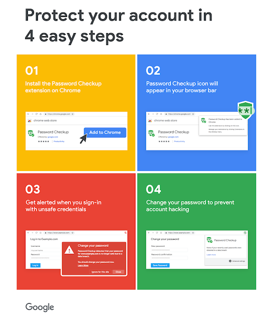 Protect your accounts from data breaches with Password Checkup [Google Security]