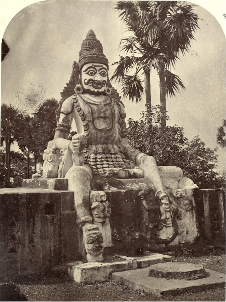 Large Hindu Deity Statue near Rifle Ground Madras (Chennai) - c. 1860's