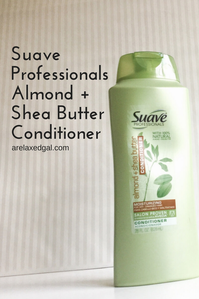 A review of Suave Professionals Almond and Shea Butter Conditioner on relaxed hair. | arelaxedgal.com