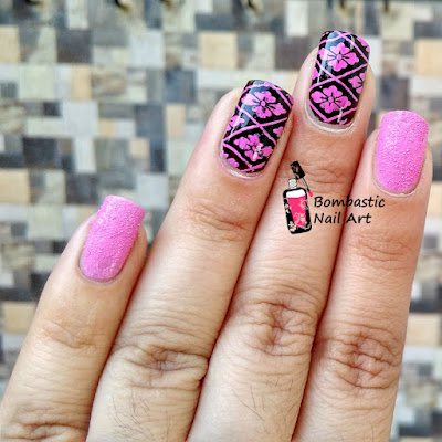 Mexican pink stamping nail polish swatch and review