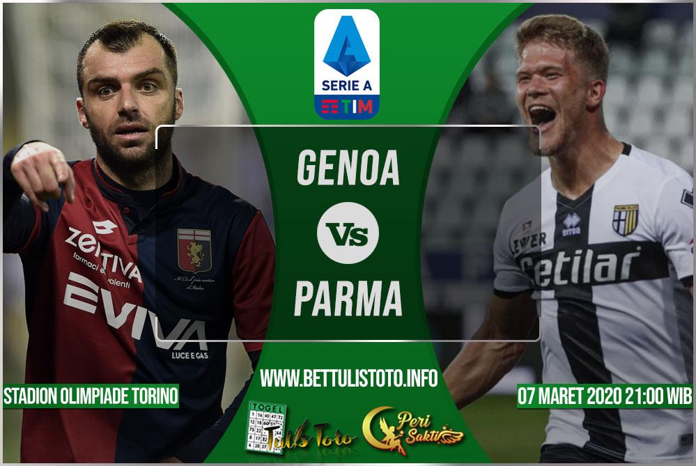 Prediksi Genoa vs Parma 07 Maret 2020