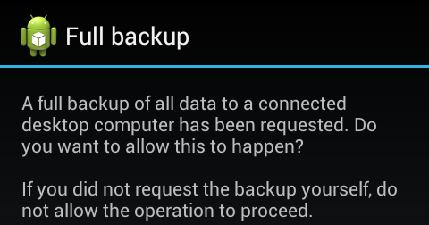 Unpacking Android backups