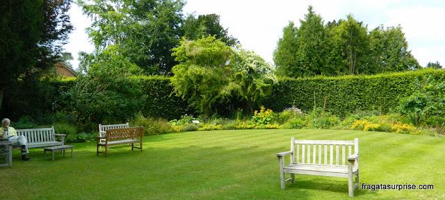 Jardim da casa onde Jane Austen morou