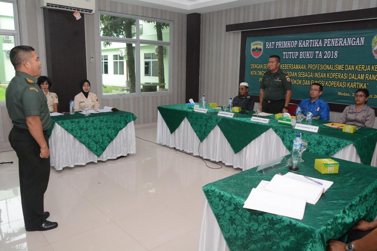 Primkopkar Pendam I/BB Rapat Anggota Tahunan Tutup Buku T.A 2018