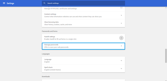 Cara Menghapus Password Yang Tersimpan di Google Chrome