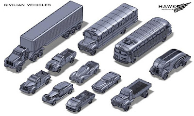 The Civilian Vehicle Packs by Hawk Wargames