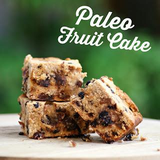 Easy Paleo Fruit Cake Recipe - gluten free, grain free, low carb, sugar free, healthy, dairy free,  peanut free, low fat, clean eating recipe