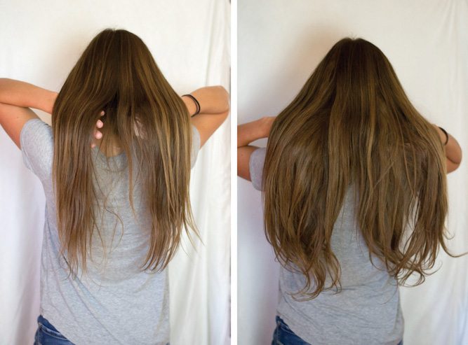 Irresistible Me Hair Extensions Before & After - Chasing Cinderella