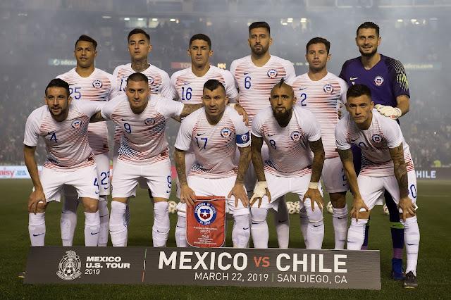 Formación de Chile ante México, amistoso disputado el 22 de marzo de 2019