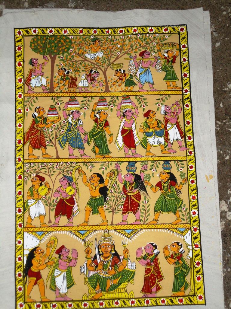 Cheriyal Scroll Paintings By Vaikuntam Nakash New Paintings