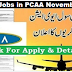 Pakistan Civil Aviation Authority PCAA Latest Jobs November 2018