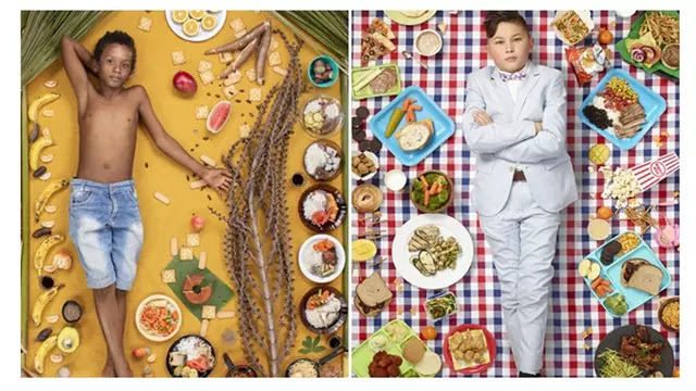 Potret Anak di Berbagai Negara dengan Makanan Sehari-harinya