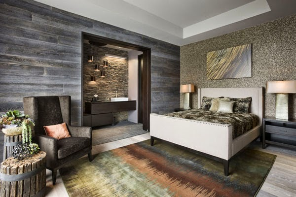 Un diseño de dormitorio matrimonial donde se combinan elementos de