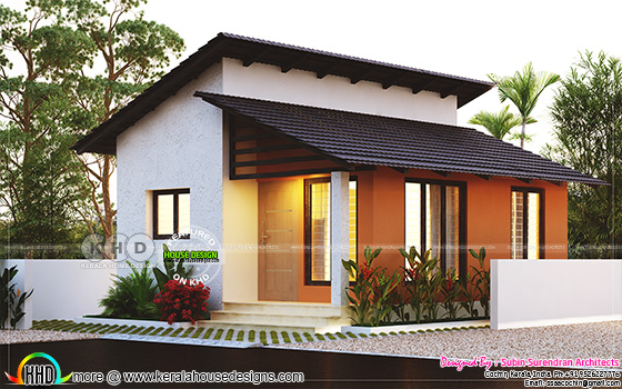 Small low cost 2 bedroom home plan