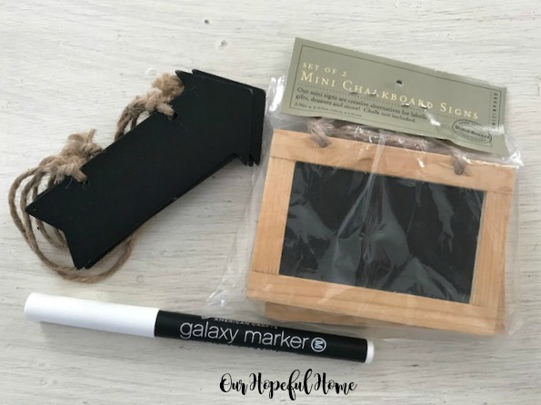 mini chalkboard sign arrow chalkboard tag galaxy marker